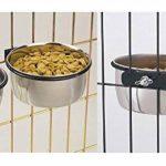 2 mangeoires de cage à boulon en acier inoxydable 3 tailles pour chien et chat également adaptées à l'eau et à la nourriture pour oiseau, lapin, et tous les petits animaux de la marque ProRezult image 3 produit