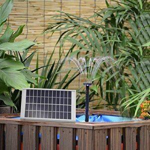 5W Fontaine Solaire Jardin Pompe à Eau Solaire avec Débit Maximum 180L/H et Jet d'eau 60CM pour la Décoration de Baignoire D'oiseaux, Etang, Bassin,Piscine de la marque Global-Star image 0 produit