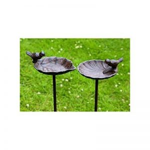 Abreuvoir pour oiseaux, bain à oiseau sur tige Jardin, en fonte, 2sortes, 1pièce, 20cm x 14cm x 98cm de la marque Boltze image 0 produit