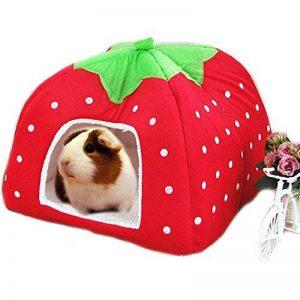 Abri et panier pour petit animal de compagnie - Lapin, cochon d'Inde, hamster, hérisson, chinchilla, etc. de la marque FLAdorepet image 0 produit
