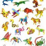 Adornlife Ensemble de 4 pièces Animal en bois 3D Puzzle Siche de cerf, Lion, écureuil, Kangourou Ensemble de bricolage 3D Modèle de jouet pour enfants et adultes de la marque Adornlife image 4 produit