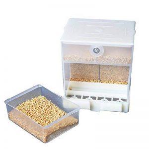 Alimentateur automatique de perroquet, mangeur d'oiseau de No-Mess, récipient de nourriture pour la perruque Cockatiel de canari de canne de la marque webeauty image 0 produit