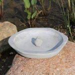AmaCasa Abreuvoir pour oiseaux Bain oiseaux Bac de l'eau Abreuvoir Abreuvoir pour oiseaux Coque Pierre Gris de la marque AmaCasa image 3 produit