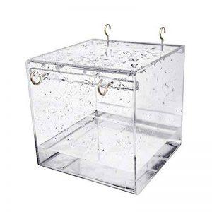 Baignoire D'oiseau, Gosear Cube Bird Baignoire Boîte de Bain Bol Cage Accessoire pour Petit Oiseau Perroquet Crête Myna de la marque Gosear image 0 produit