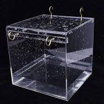 Baignoire D'oiseau, Gosear Cube Bird Baignoire Boîte de Bain Bol Cage Accessoire pour Petit Oiseau Perroquet Crête Myna de la marque Gosear image 4 produit