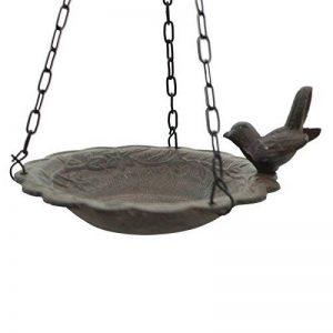 Bain d'Oiseau Mangeoire à Suspendre avec Chaîne de Jardin ø 21 cm de la marque chemin_de_campagne image 0 produit