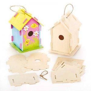 Baker Ross Lot de 2 Kits Maison à Oiseaux en Bois à monter, décorer et personnaliser. de la marque Baker Ross image 0 produit
