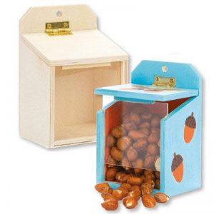 Baker Ross Mangeoires pour écureuils en bois parfaites pour les loisirs créatifs et les décorations des enfants (Lot de 2) de la marque Baker-Ross image 0 produit