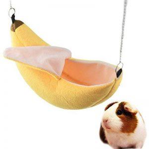 banana Hamster Lit Maison Hamac chaud écureuil Hérisson Cochon d'Inde Lit Maison Nid Cage Hamster Accessoires de la marque FLAdorepet image 0 produit