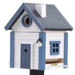 Blanc & bleu–Cottage Plus Multiholk Mangeoire Maison & Mangeoire–Arbre ou sur pied de la marque The Present Store image 1 produit