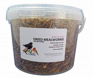 Britten & James - Dried Mealworms Mealworms secs. Nourriture pour les oiseaux sauvages. 3 litres. Baignoire scellée de la marque Britten & James image 0 produit