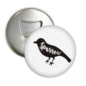 bruant Noir et blanc animal ronde Décapsuleur Aimant de réfrigérateur badge Button 3pcs Cadeau de la marque DIYthinker image 0 produit