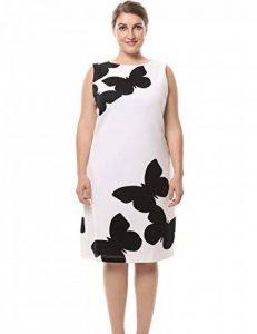 Chicwe Femmes Grande Taille Papillon Imprimé Robe Sans Manches avec Retour Métal Zip EU44-60 de la marque Chicwe image 0 produit