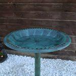 CLGarden VGT2 Abreuvoir pour oiseaux Bain d'oiseaux abreuvoir pour oiseaux avec pied pour planter Design antique de la marque CLGarden image 2 produit