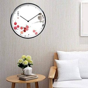 COCO Oiseaux Série Horloge Salon Décoration Horloge murale Art Montres et horloges créatives de style chinois Horloge silencieuse d'origine simple Ronde HOME de la marque horloge murale image 0 produit