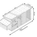 Cocoon Poulailler avec mécanisme de fermeture innovant, fenêtres en Perspex, trous d'aération arrière, bac de nettoyage et nichoirs sécurisés Grand modèle 245 cm de la marque Cocoon image 4 produit