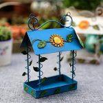 De Plein Air Oiseau Feeder Jardin Décoration Maison Pendaison Peinture De Fer Peinte Panier Feeder. Cacoffay de la marque Ca.Coffay image 4 produit