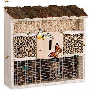 Deuba Hôtel à insectes en bois naturel - Nichoir - Abri hiver insectes espèces jardin de la marque Deuba image 0 produit