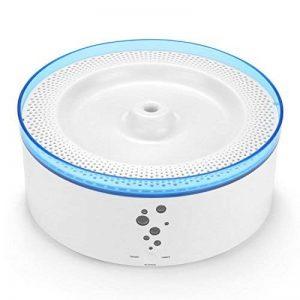 Distributeur d'eau de chien de fontaine de Lunvon 100 OZ, 3L Super silencieux automatique bol d'eau électrique avec 3 modes de fonctionnement Fontaine potable saine et hygiénique pour les chats, les chiens, les oiseaux et les petits animaux, blanc de la m image 0 produit