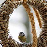 dobar 10051 Grande mangeoire circulaire à remplir avec par exemple des boules de graisse, des cacahuètes, des fruits, en métal laqué, 41 x 30 x 6.5 cm de la marque dobar image 2 produit