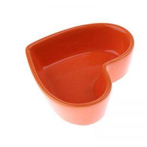 Dolity Distributeur d'Alimentation de Nourriture en Céramique de Cœur Mangeoire pour Hamster Oiseaux Petit Animaux Maison de la marque Dolity image 0 produit