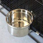 Eau et nourriture Bird Tasse avec pince de maintien en acier inoxydable Gamelle Gamelle Mangeoire pour tous les oiseaux Animal de petite taille et cages de chiot 567gram de la marque XMSSIT image 4 produit
