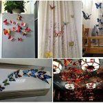 ElecMotive 24 Pièces 3D Papillons Papiers Décoration pour décoration de Maison et de Pièce, Stickers Muraux, 2 Couleurs de la marque ElecMotive image 1 produit