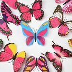 ElecMotive 24 Pièces 3D Papillons Papiers Décoration pour décoration de Maison et de Pièce, Stickers Muraux, 2 Couleurs de la marque ElecMotive image 3 produit