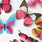 ElecMotive 24 Pièces 3D Papillons Papiers Décoration pour décoration de Maison et de Pièce, Stickers Muraux, 2 Couleurs de la marque ElecMotive image 2 produit
