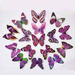 ElecMotive 24 Pièces 3D Papillons Papiers Décoration pour décoration de Maison et de Pièce, Stickers Muraux, 2 Couleurs de la marque ElecMotive image 4 produit