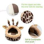 Funny Giraffe Animal de petite taille Lit Maison d'hiver chaud de couchage Canapé Grotte Nid pour hamster Rat Hérisson écureuils Cochon d'Inde, (s, girafe) de la marque AUOON image 3 produit