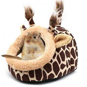 Funny Giraffe Animal de petite taille Lit Maison d'hiver chaud de couchage Canapé Grotte Nid pour hamster Rat Hérisson écureuils Cochon d'Inde, (s, girafe) de la marque AUOON image 0 produit