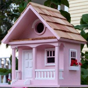 Garden Bazaar Hbb-1004Cotton Candy Cottage Bird House–Rose de la marque Garden Bazaar image 0 produit