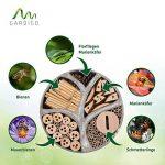 Gardigo 90567 - Hôtel à Insectes Rend en Bois Naturel/Bambou; Refuge pour Hibernation/Nidification; Maison, Abri, Nichoir à Coccinelle Abeilles Papillons Guêpes; 30 x 30 x 6,5 cm de la marque Gardigo image 1 produit