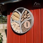Gardigo 90567 - Hôtel à Insectes Rend en Bois Naturel/Bambou; Refuge pour Hibernation/Nidification; Maison, Abri, Nichoir à Coccinelle Abeilles Papillons Guêpes; 30 x 30 x 6,5 cm de la marque Gardigo image 4 produit