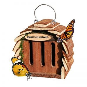 Gardigo Hôtel pour papillon   maison, abri à coccinelle abeilles et pour plusieurs insectes   en bois naturel   facile à suspendre - Idée cadeau Noël de la marque Gardigo image 0 produit