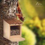 Gardigo Mangeoire pour écureuil, Toit ouvrant; maison, bar, distributeur de nourriture en bois pour plusieurs animaux; facile à remplir, nettoyer de la marque Gardigo image 1 produit