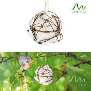 Gardigo Ouate pour nid d'oiseaux Pour la construction du nid et l'aménagement du nichoir Coton de la marque Gardigo image 0 produit