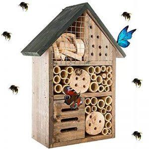Générique Hôtel à Insectes - abri refuge nichoir maison abeille papillon coccinelles de la marque Générique image 0 produit