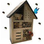 Générique Hôtel à Insectes - abri refuge nichoir maison abeille papillon coccinelles de la marque Générique image 1 produit