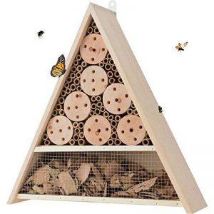 Grand Hôtel à Insectes - abri refuge nichoir maison abeille papillon coccinelles - 40 cm de la marque Générique image 0 produit
