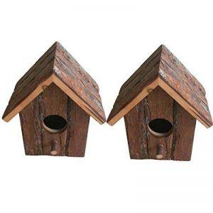 Heritage 20832rustique en bois nidification Nichoir Nichoir Petits oiseaux mésange bleue Robin Sparrow 2 x 20832 Bird Boxes de la marque Heritage Pet Products image 0 produit