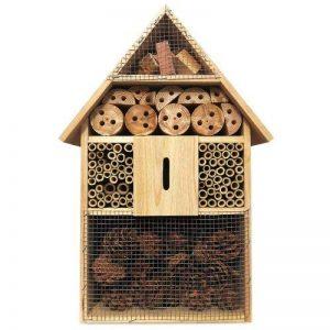 Hôtel à insecte XXl en Bois naturel - 48 cm x 31 cm x 10 cm - Abri insecte protection hiver de la marque Deuba image 0 produit