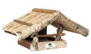 'House-Gard 23Abri en bois de bouleau Mangeoire pour oiseaux en bois massif, 39cm x 22cm x 19cm de la marque House & Garden image 0 produit