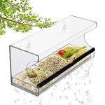 Hrph Grand Mangeoire pour Oiseaux Acrylique Crystal Transparent Mangeoire à Oiseaux pour Fenêtre avec 2 Ventouses de la marque Hrph image 5 produit