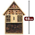 Hôtel à insecte XXl en Bois naturel - 48 cm x 31 cm x 10 cm - Abri insecte protection hiver de la marque Deuba image 1 produit