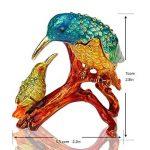 Inconnu H & D Kingfishers Oiseaux Boîte à bijoux en métal émaillé figurine de mariage Bijoux Bague support organiseur de la marque Inconnu image 1 produit