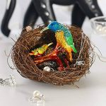 Inconnu H & D Kingfishers Oiseaux Boîte à bijoux en métal émaillé figurine de mariage Bijoux Bague support organiseur de la marque Inconnu image 3 produit