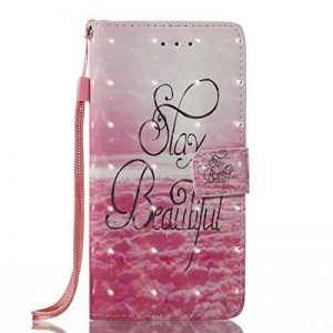 iPhone Coque Wallet Card Holder avec béquille fin Coque pour iPhone [avec film de protection d'écran en verre trempé] de la marque AmberMa image 0 produit