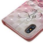 iPhone Coque Wallet Card Holder avec béquille fin Coque pour iPhone [avec film de protection d'écran en verre trempé] de la marque AmberMa image 5 produit